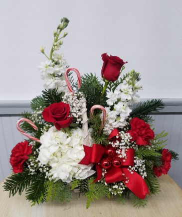 Tis The Season Floral Basket