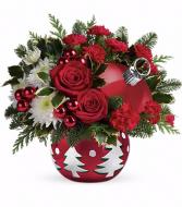 Tis' the Season Ornament Christmas Arrangement