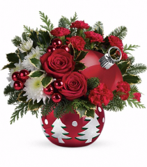 Tis' the Season Ornament Christmas Arrangement