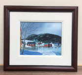 Tizzards Harbour Winter Ed Roche Framed Print