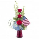 Patriot Fresh Flower Arrangement