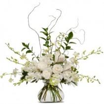 White Elegance Fresh Flower Arrangement