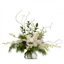 Frosted Fresh Flower Arrangement