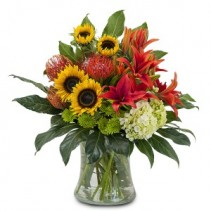Harvest Sun Fresh Flower Arrangement
