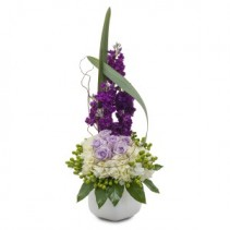 Lush and Lavender Fresh Flower Arrangement