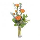 Orange Simplicity Fresh Flower Arrangement