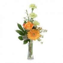 Orange U Glad Fresh Flower Arrangement