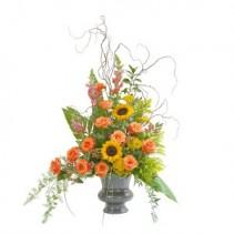 Heaven's Sunset Large Urn Fresh Flower Arrangement
