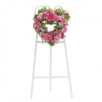 Peaceful Pink Heart Spray Fresh Flower Spray