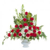Enduring Strength Urn Fresh Flower Arrangement