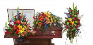 Treasured Celebration Trio Fresh Flower Arrangements in Saint Petersburg, FL | ABSOLUTELY BEAUTIFUL FLOWERS