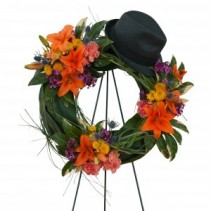 Remembering the Good Times Wreath Fresh Flower Spray
