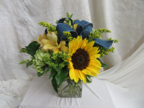 To Brighten Your Day Fresh Mixed Vased Arrangement
