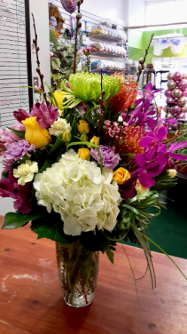TO Brighten your day Mom Vase arrangement
