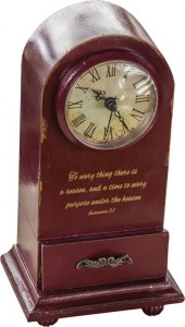 To Everything There Is A Season Table Clock