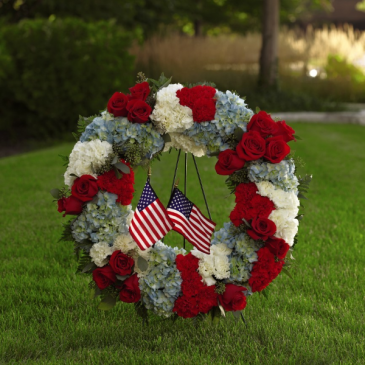 To Honor One's Country Wreath Standing Wreath