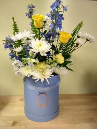 unique box of flowers Arrangement