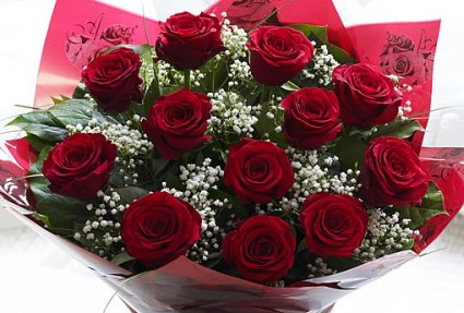 To My Love 1 dz rose-Wrapped Bouquet