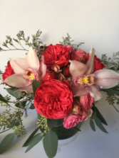Together Again Garden roses and cymbidiums