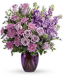 Together At Twilight Vase Arrangement..May Have To Substatute Purple Vase With A Clear One