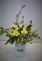 TOGETHER IS OUR FAVORITE  FRESH FLOWERS VASED