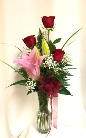 Token of Love ROSES WITH A LILY