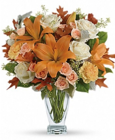 Tones of orange and white  Vase