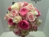 Tones of Pink Roses Bridal Bouquet