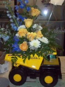 Tonka Truck Arrangement Boy Child Arrangement