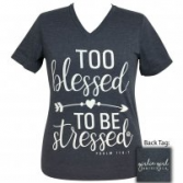 Too Blessed Girlie Girl V-neck