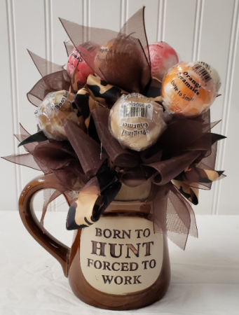 TOO TRUE! Candy arrangement in coffee mug