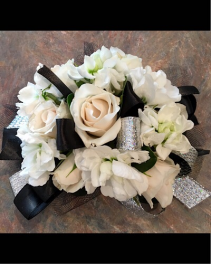 Top hat, white tie and tails Corsage