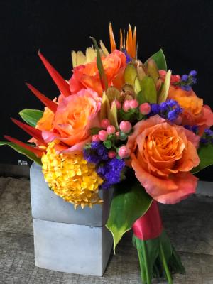 Topical Nosegay Bouquet Small Tropical Wedding Bouquet in Key West, FL | Petals & Vines