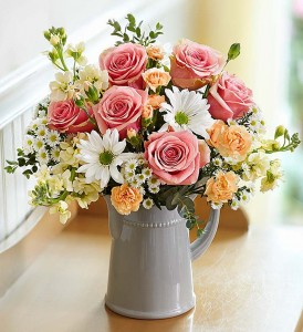 Touch of Elegance Pink Rose Arrangment Fresh Flowers