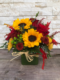 Touch of Fall Cube Vase
