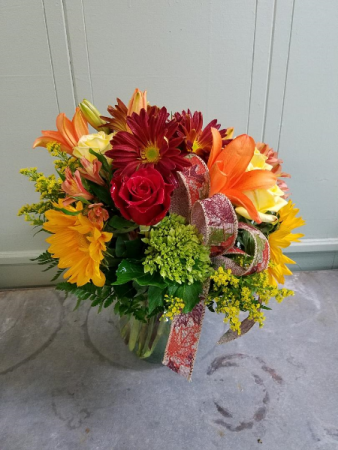 Touch of Fall Vase arrangement