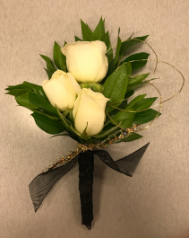 Touch of Gold  Prom Boutonniere