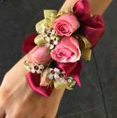 Touch of Gold Wrist Corsage