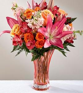 Touch of Love Beautiful Elegant Vase, fresh flower
