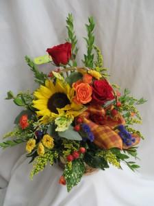 Touch Of Spice Fresh Basket Arrangement