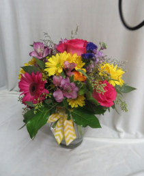 Touch of Spring Fresh Mixed Vased Arrangement