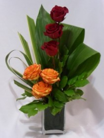 TOWER OF ROSES - Prince George BC CANADA Flowers:  AMAPOLA BLOSSOMS  - Exotic Designs