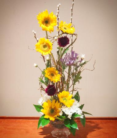 Towering Sunflowers Soring