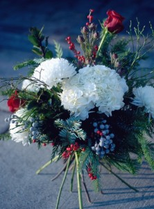 Traditional Christmas Handtied Bouquet