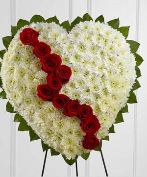 Traditional Broken Heart When your heart breaks  in Ozone Park, NY | Heavenly Florist