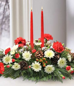 Traditional Candle Holiday Design Centerpiece