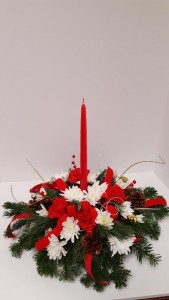 Traditional Christmas Centerpiece  in Fort Wayne, IN | THE FLOWER SHOP