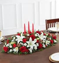 Traditional Christmas Centerpieces All-Around Floral Arrangement