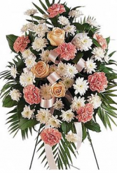 Traditional Funeral Flowers Standing Spray