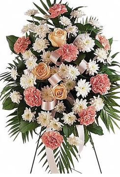 Traditional Funeral Flowers Standing Spray in Selma, NC | SELMA FLOWER SHOP